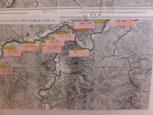 明治25年(1892)当時の「宮川渡し場」の位置図