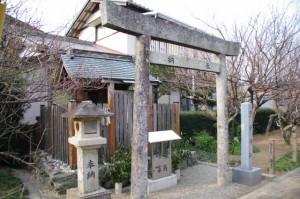臥龍梅公園にある菅原神社(伊勢市御薗町)