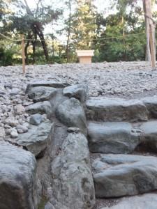 旧社殿が解体された多賀宮