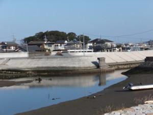 大湊川と志宝屋神社の社叢