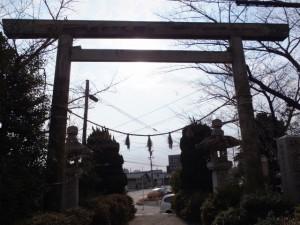 神宮遥拝鳥居、日永の追分(4615)