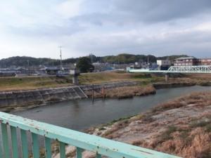 河原田橋(内部川)北詰(6434)から望む