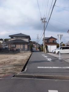 采女道への交差点、伊勢街道(6803)
