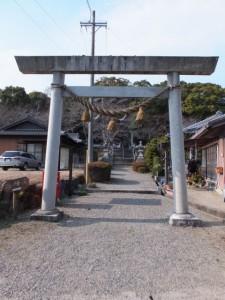 河原田神社の参道、伊勢街道(7130)