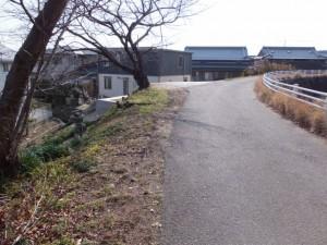 河原田神社付近の堤防