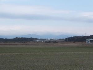 伊勢街道(9634)付近から望む鈴鹿山脈