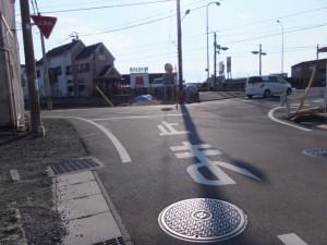 「左 さんぐう道」道標、伊勢-2(3365)