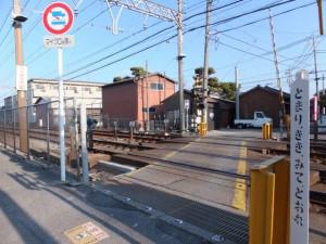 近鉄名古屋線 踏切道 白子 7号、伊勢-2(5985)