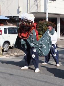 たい焼き日吉屋付近(世木神社の御頭神事)