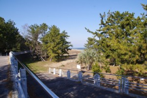 鷲ヶ浜の案内板付近(大湊海岸)