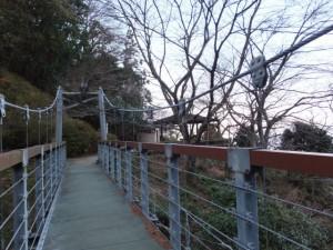 音無山の吊り橋(伊勢市二見町)