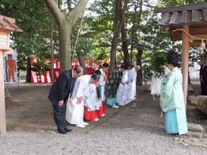楠部町萬歳楽 修祓(櫲樟尾神社)