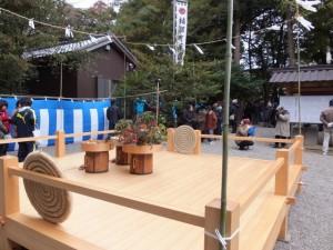 楠部町萬歳楽 豊年踊りの舞台(櫲樟尾神社)