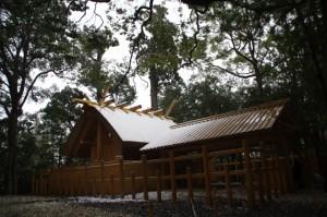 多賀宮(昨夜の雪が残る外宮)