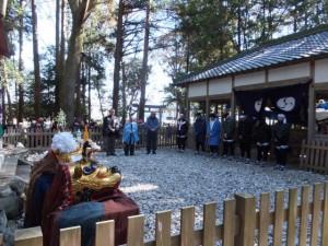 城田神社の御頭神事