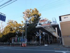 今社と高柳商店街の入口