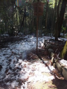 大雪の後の多岐原神社