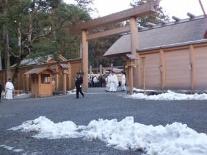 祈年祭 奉幣の儀(大雪の後の外宮)