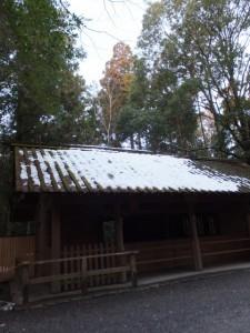 祈年祭の日(大雪の後の外宮)