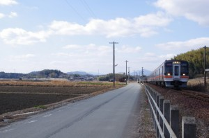 JR参宮線 外城田駅付近