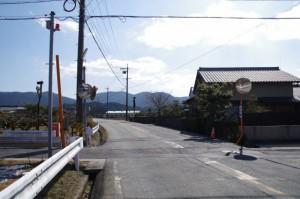 原交差点先のカーブミラー(朽羅神社〜田乃家神社)