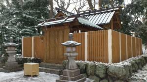 伊勢での大雪、箕曲神社(徒歩での出勤時)