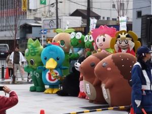 「くまモンが伊勢にやってくるモン」イベント(伊勢市駅前)