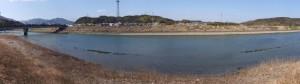 堀割橋下流側右岸から望む五十鈴川