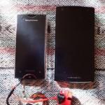 ソニーモバイルコミュニケーションズ Xperia ray SO-03C(旧スマホ) v.s. 富士通 ARROWS V F-04E(新スマホ)