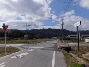 幸神社(度会郡玉城町積良)付近の十字路