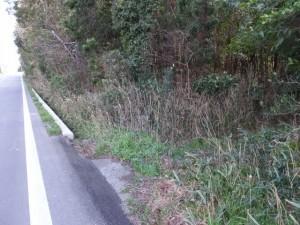 この脇道を右折、奈良波良神社へ