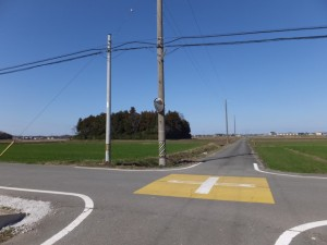 小社神社付近の十字路