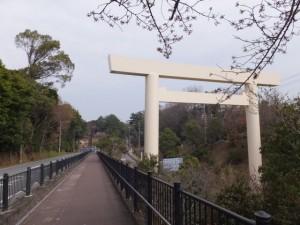大五輪の五輪塔から倭姫前交差点(御幸道路)へ