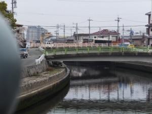 小田橋から望む簀子橋と錦水橋(勢田川)