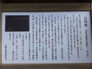 『さくら名所100選の地 宮川堤』の説明板