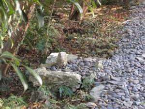 伊雜宮の正面にある石
