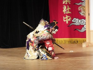 石見神楽、佐野神楽社中による「有明」(クラギ文化ホール)