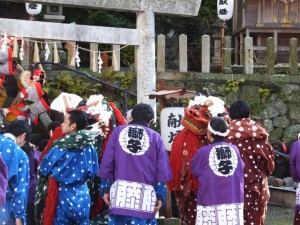 大山祗神社 奉納「獅子と天狗の舞」練込み神前舞