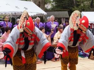 大山祗神社 奉納「獅子と天狗の舞」披露舞(大山祗神社)
