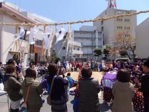 大山祗神社 奉納「獅子と天狗の舞」披露舞(てんすうくん会館前)