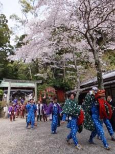 大山祗神社 奉納「獅子と天狗の舞」(賀多神社)