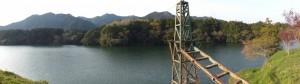 「奥伊勢フォレストピア 奥伊勢宮川天然温泉」 7.3kmの案内板付近