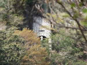 宮川ウォーク、桑木谷〜軍艦島の途中から望むのぞきトンネル