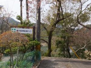 宮川ウォーク、大杉谷自然の家付近にある「観光船乗船場入口」