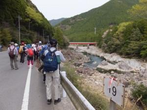 宮川ウォーク、大杉谷自然学校〜桧原橋