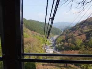 千本口駅から吉野山駅へ(吉野山ロープウェイ)