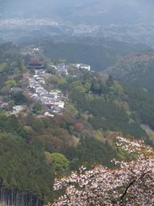 横川覚範の首塚から花矢倉への上りの山道からの眺望