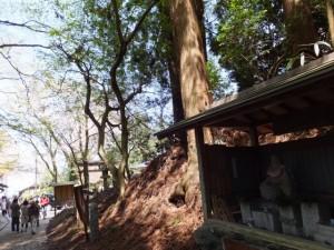 金峯神社付近