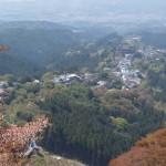 吉野 上千本の眺望、金峯山寺 蔵王堂の遠望