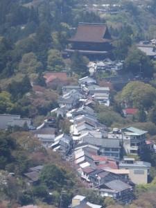金峯山寺 蔵王堂の遠望
